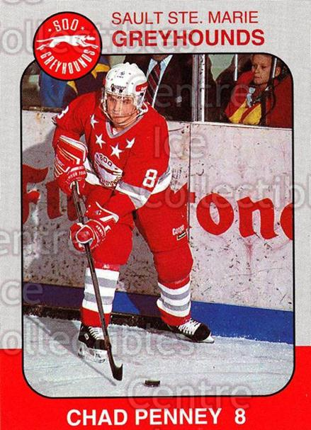 1993-94 Sault Ste. Marie Greyhounds Memorial Cup #9 Chad Penney<br/>1 In Stock - $3.00 each - <a href=https://centericecollectibles.foxycart.com/cart?name=1993-94%20Sault%20Ste.%20Marie%20Greyhounds%20Memorial%20Cup%20%239%20Chad%20Penney...&quantity_max=1&price=$3.00&code=4687 class=foxycart> Buy it now! </a>
