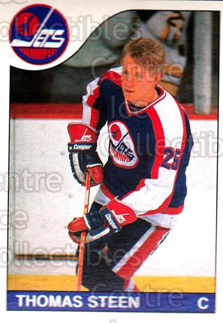 1985-86 O-Pee-Chee #206 Thomas Steen<br/>4 In Stock - $1.00 each - <a href=https://centericecollectibles.foxycart.com/cart?name=1985-86%20O-Pee-Chee%20%23206%20Thomas%20Steen...&quantity_max=4&price=$1.00&code=468815 class=foxycart> Buy it now! </a>