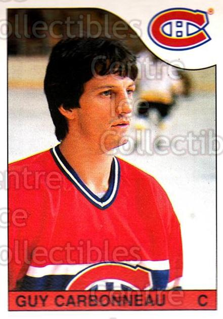 1985-86 O-Pee-Chee #233 Guy Carbonneau<br/>2 In Stock - $1.00 each - <a href=https://centericecollectibles.foxycart.com/cart?name=1985-86%20O-Pee-Chee%20%23233%20Guy%20Carbonneau...&quantity_max=2&price=$1.00&code=468842 class=foxycart> Buy it now! </a>