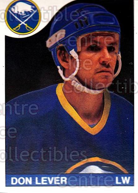 1985-86 O-Pee-Chee #238 Don Lever<br/>4 In Stock - $1.00 each - <a href=https://centericecollectibles.foxycart.com/cart?name=1985-86%20O-Pee-Chee%20%23238%20Don%20Lever...&quantity_max=4&price=$1.00&code=468847 class=foxycart> Buy it now! </a>