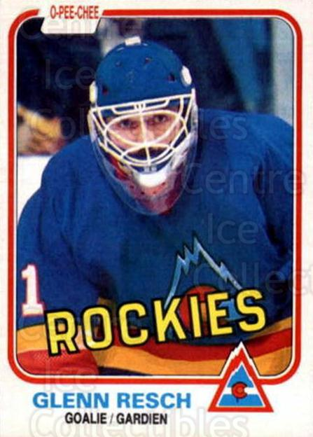 1981-82 O-Pee-Chee #80 Glenn Resch<br/>1 In Stock - $2.00 each - <a href=https://centericecollectibles.foxycart.com/cart?name=1981-82%20O-Pee-Chee%20%2380%20Glenn%20Resch...&quantity_max=1&price=$2.00&code=468953 class=foxycart> Buy it now! </a>