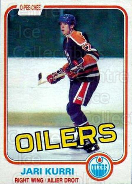 1981-82 O-Pee-Chee #107 Jari Kurri<br/>2 In Stock - $30.00 each - <a href=https://centericecollectibles.foxycart.com/cart?name=1981-82%20O-Pee-Chee%20%23107%20Jari%20Kurri...&quantity_max=2&price=$30.00&code=468980 class=foxycart> Buy it now! </a>