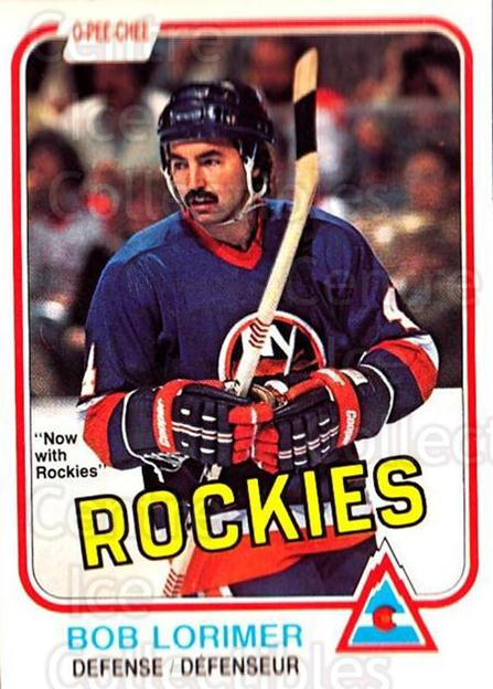 1981-82 O-Pee-Chee #214 Bob Lorimer<br/>3 In Stock - $1.00 each - <a href=https://centericecollectibles.foxycart.com/cart?name=1981-82%20O-Pee-Chee%20%23214%20Bob%20Lorimer...&quantity_max=3&price=$1.00&code=469087 class=foxycart> Buy it now! </a>