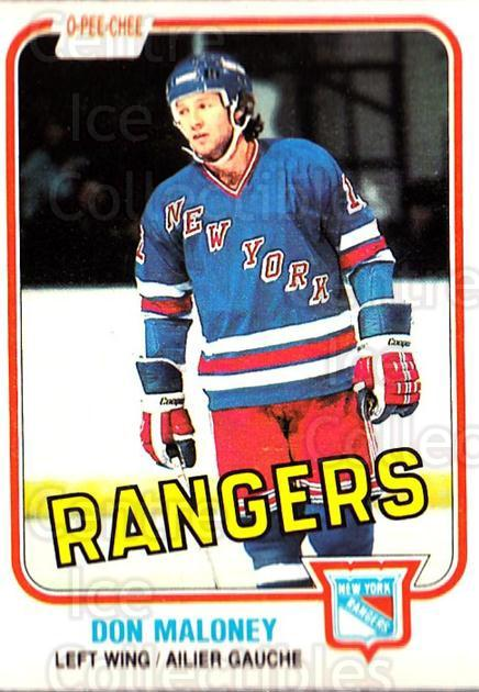 1981-82 O-Pee-Chee #228 Don Maloney<br/>4 In Stock - $1.00 each - <a href=https://centericecollectibles.foxycart.com/cart?name=1981-82%20O-Pee-Chee%20%23228%20Don%20Maloney...&quantity_max=4&price=$1.00&code=469101 class=foxycart> Buy it now! </a>