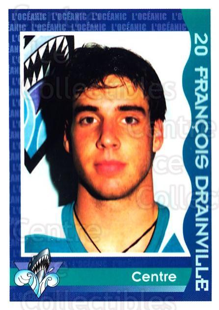 1997-98 Rimouski Oceanic Police #9 Francois Drainville<br/>2 In Stock - $3.00 each - <a href=https://centericecollectibles.foxycart.com/cart?name=1997-98%20Rimouski%20Oceanic%20Police%20%239%20Francois%20Drainv...&quantity_max=2&price=$3.00&code=469284 class=foxycart> Buy it now! </a>