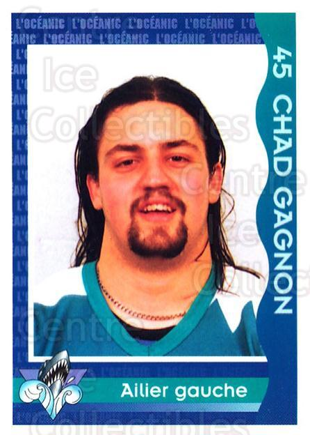 1997-98 Rimouski Oceanic Police #11 Chad Gagnon<br/>2 In Stock - $3.00 each - <a href=https://centericecollectibles.foxycart.com/cart?name=1997-98%20Rimouski%20Oceanic%20Police%20%2311%20Chad%20Gagnon...&quantity_max=2&price=$3.00&code=469286 class=foxycart> Buy it now! </a>