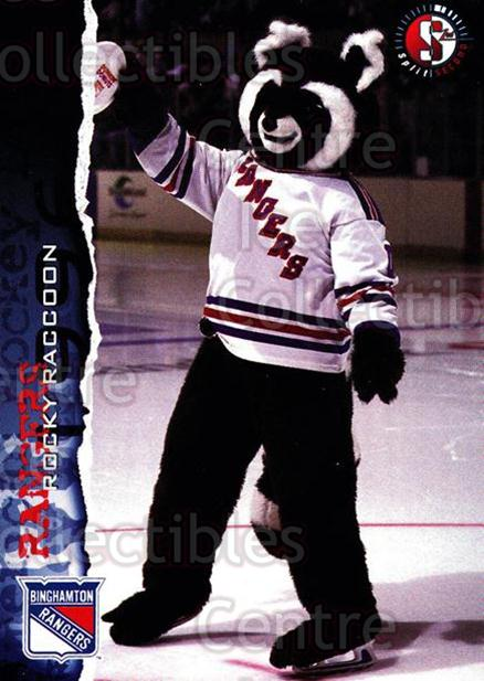 1996-97 Binghamton Rangers #16 Mascot<br/>3 In Stock - $3.00 each - <a href=https://centericecollectibles.foxycart.com/cart?name=1996-97%20Binghamton%20Rangers%20%2316%20Mascot...&quantity_max=3&price=$3.00&code=46953 class=foxycart> Buy it now! </a>