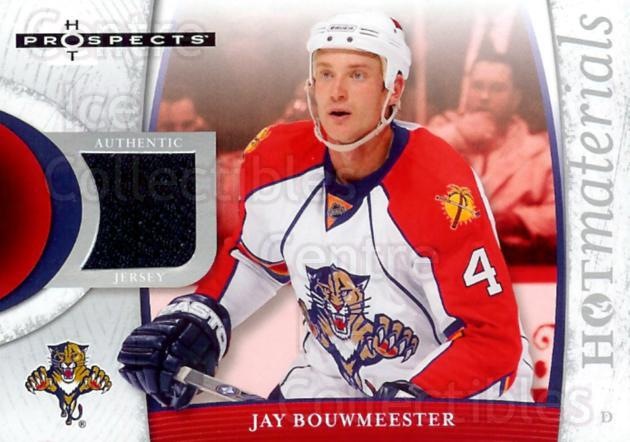 2007-08 Hot Prospects Hot Materials #HMJB Jay Bouwmeester<br/>1 In Stock - $5.00 each - <a href=https://centericecollectibles.foxycart.com/cart?name=2007-08%20Hot%20Prospects%20Hot%20Materials%20%23HMJB%20Jay%20Bouwmeester...&quantity_max=1&price=$5.00&code=469545 class=foxycart> Buy it now! </a>