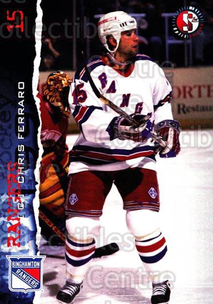 1996-97 Binghamton Rangers #7 Chris Ferraro<br/>4 In Stock - $3.00 each - <a href=https://centericecollectibles.foxycart.com/cart?name=1996-97%20Binghamton%20Rangers%20%237%20Chris%20Ferraro...&quantity_max=4&price=$3.00&code=46965 class=foxycart> Buy it now! </a>