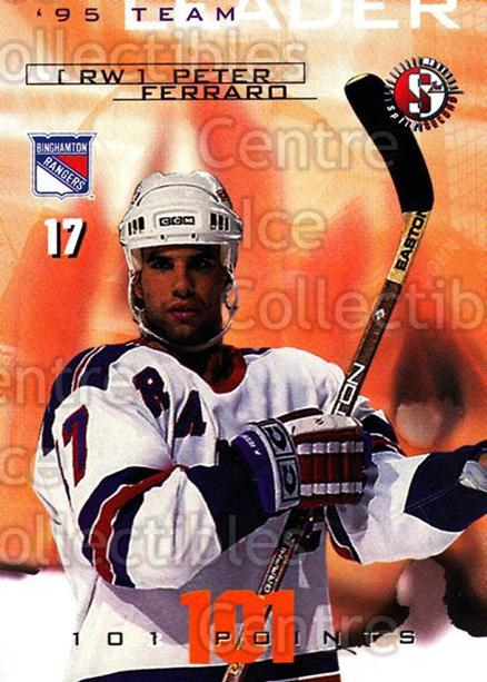 1996-97 Binghamton Rangers #8 Peter Ferraro<br/>3 In Stock - $3.00 each - <a href=https://centericecollectibles.foxycart.com/cart?name=1996-97%20Binghamton%20Rangers%20%238%20Peter%20Ferraro...&price=$3.00&code=46966 class=foxycart> Buy it now! </a>