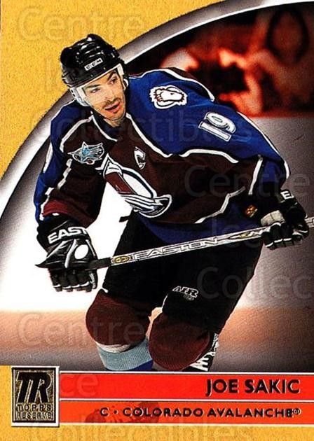 2001-02 Topps Reserve #1 Joe Sakic<br/>1 In Stock - $3.00 each - <a href=https://centericecollectibles.foxycart.com/cart?name=2001-02%20Topps%20Reserve%20%231%20Joe%20Sakic...&quantity_max=1&price=$3.00&code=469805 class=foxycart> Buy it now! </a>