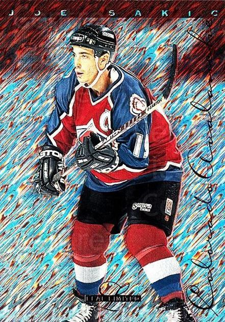 1995-96 Leaf Limited #64 Joe Sakic<br/>1 In Stock - $2.00 each - <a href=https://centericecollectibles.foxycart.com/cart?name=1995-96%20Leaf%20Limited%20%2364%20Joe%20Sakic...&price=$2.00&code=470083 class=foxycart> Buy it now! </a>