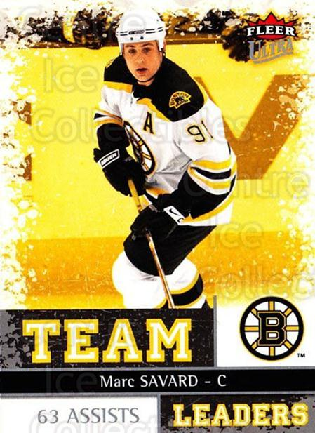 2008-09 Ultra Team Leaders #5 Marc Savard<br/>2 In Stock - $3.00 each - <a href=https://centericecollectibles.foxycart.com/cart?name=2008-09%20Ultra%20Team%20Leaders%20%235%20Marc%20Savard...&quantity_max=2&price=$3.00&code=470096 class=foxycart> Buy it now! </a>