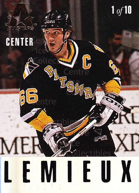 1993-94 Leaf Gold Leaf AS #1 Mario Lemieux, Pat LaFontaine<br/>2 In Stock - $5.00 each - <a href=https://centericecollectibles.foxycart.com/cart?name=1993-94%20Leaf%20Gold%20Leaf%20AS%20%231%20Mario%20Lemieux,%20...&price=$5.00&code=470667 class=foxycart> Buy it now! </a>
