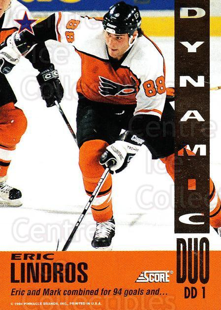 1993-94 Score Dynamic Duos American #1 Mark Recchi, Eric Lindros<br/>3 In Stock - $5.00 each - <a href=https://centericecollectibles.foxycart.com/cart?name=1993-94%20Score%20Dynamic%20Duos%20American%20%231%20Mark%20Recchi,%20Er...&quantity_max=3&price=$5.00&code=470682 class=foxycart> Buy it now! </a>