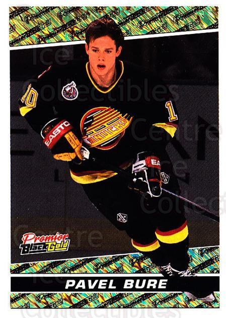 1993-94 OPC Premier Black Gold #7 Pavel Bure<br/>1 In Stock - $5.00 each - <a href=https://centericecollectibles.foxycart.com/cart?name=1993-94%20OPC%20Premier%20Black%20Gold%20%237%20Pavel%20Bure...&quantity_max=1&price=$5.00&code=470710 class=foxycart> Buy it now! </a>