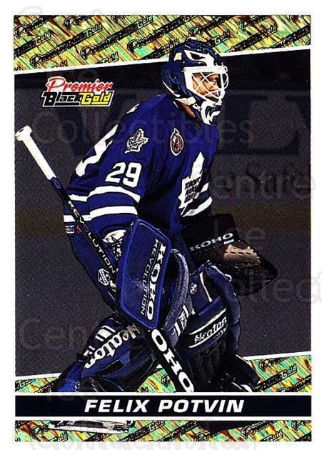 1993-94 OPC Premier Black Gold #17 Felix Potvin<br/>2 In Stock - $3.00 each - <a href=https://centericecollectibles.foxycart.com/cart?name=1993-94%20OPC%20Premier%20Black%20Gold%20%2317%20Felix%20Potvin...&quantity_max=2&price=$3.00&code=470716 class=foxycart> Buy it now! </a>