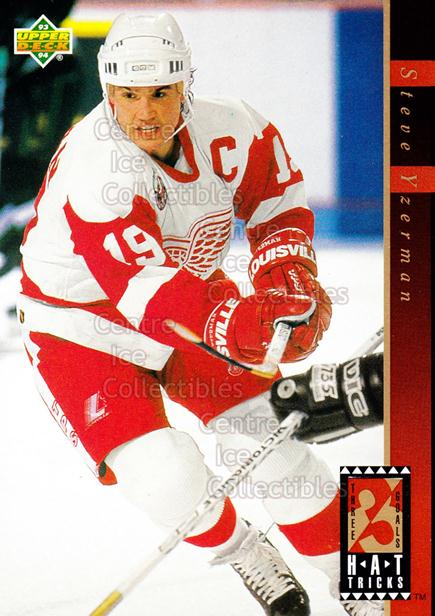 1993-94 Upper Deck Hat Tricks #6 Steve Yzerman<br/>1 In Stock - $2.00 each - <a href=https://centericecollectibles.foxycart.com/cart?name=1993-94%20Upper%20Deck%20Hat%20Tricks%20%236%20Steve%20Yzerman...&price=$2.00&code=470745 class=foxycart> Buy it now! </a>