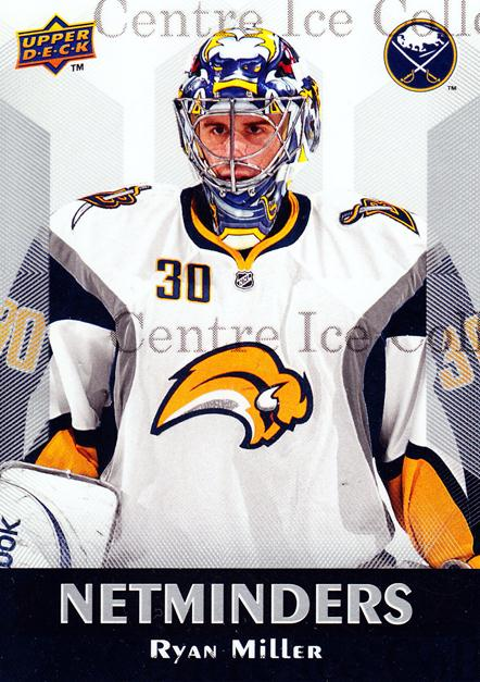 2010-11 Upper Deck Netminders #21 Ryan Miller<br/>3 In Stock - $5.00 each - <a href=https://centericecollectibles.foxycart.com/cart?name=2010-11%20Upper%20Deck%20Netminders%20%2321%20Ryan%20Miller...&quantity_max=3&price=$5.00&code=470934 class=foxycart> Buy it now! </a>