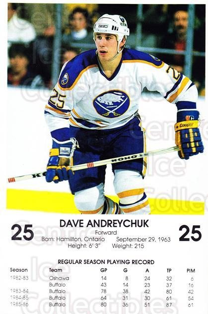 1986-87 Buffalo Sabres Blue Shield #2 Dave Andreychuk<br/>3 In Stock - $3.00 each - <a href=https://centericecollectibles.foxycart.com/cart?name=1986-87%20Buffalo%20Sabres%20Blue%20Shield%20%232%20Dave%20Andreychuk...&quantity_max=3&price=$3.00&code=470945 class=foxycart> Buy it now! </a>