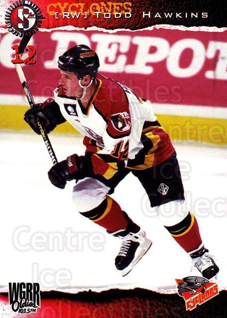 1996-97 Cincinnati Cyclones #9 Todd Hawkins<br/>4 In Stock - $3.00 each - <a href=https://centericecollectibles.foxycart.com/cart?name=1996-97%20Cincinnati%20Cyclones%20%239%20Todd%20Hawkins...&quantity_max=4&price=$3.00&code=47111 class=foxycart> Buy it now! </a>