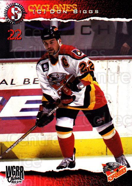 1996-97 Cincinnati Cyclones #13 Don Biggs<br/>3 In Stock - $3.00 each - <a href=https://centericecollectibles.foxycart.com/cart?name=1996-97%20Cincinnati%20Cyclones%20%2313%20Don%20Biggs...&quantity_max=3&price=$3.00&code=47115 class=foxycart> Buy it now! </a>