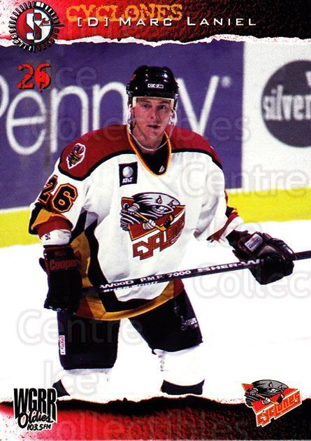 1996-97 Cincinnati Cyclones #15 Marc Laniel<br/>3 In Stock - $3.00 each - <a href=https://centericecollectibles.foxycart.com/cart?name=1996-97%20Cincinnati%20Cyclones%20%2315%20Marc%20Laniel...&quantity_max=3&price=$3.00&code=47117 class=foxycart> Buy it now! </a>