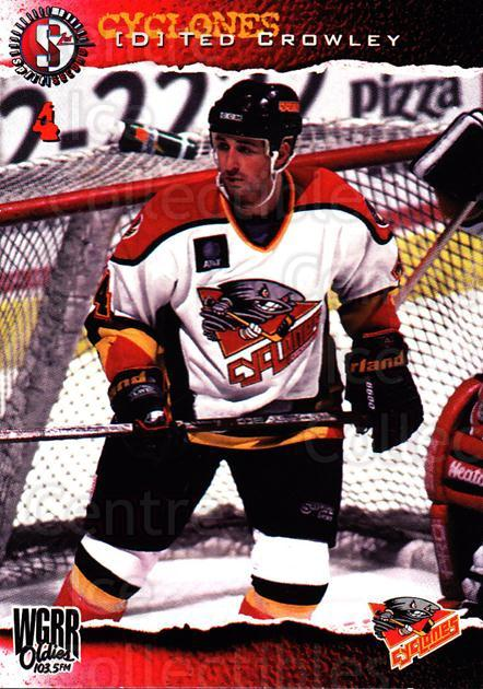 1996-97 Cincinnati Cyclones #6 Ted Crowley<br/>2 In Stock - $3.00 each - <a href=https://centericecollectibles.foxycart.com/cart?name=1996-97%20Cincinnati%20Cyclones%20%236%20Ted%20Crowley...&quantity_max=2&price=$3.00&code=47125 class=foxycart> Buy it now! </a>
