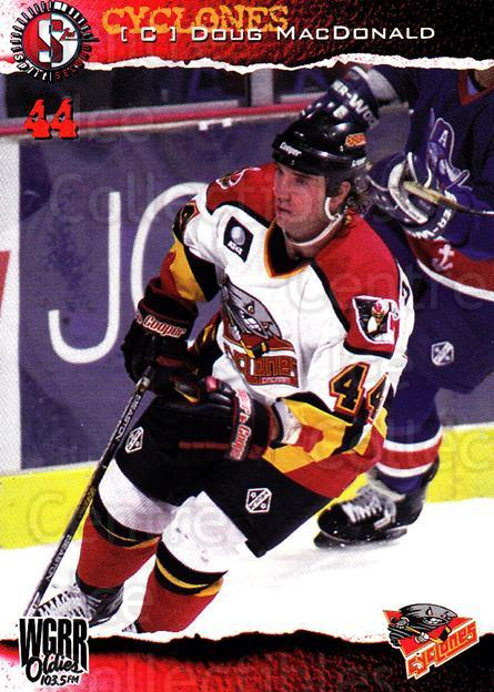 1996-97 Cincinnati Cyclones #22 Doug MacDonald<br/>3 In Stock - $3.00 each - <a href=https://centericecollectibles.foxycart.com/cart?name=1996-97%20Cincinnati%20Cyclones%20%2322%20Doug%20MacDonald...&quantity_max=3&price=$3.00&code=47126 class=foxycart> Buy it now! </a>