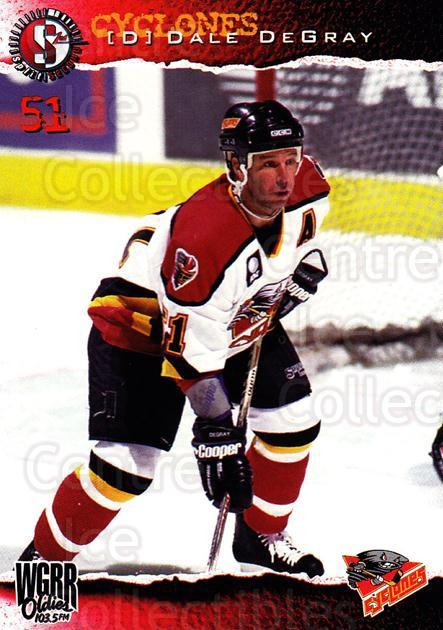 1996-97 Cincinnati Cyclones #23 Dale DeGray<br/>2 In Stock - $3.00 each - <a href=https://centericecollectibles.foxycart.com/cart?name=1996-97%20Cincinnati%20Cyclones%20%2323%20Dale%20DeGray...&quantity_max=2&price=$3.00&code=47128 class=foxycart> Buy it now! </a>