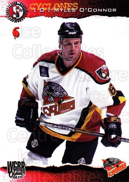 1996-97 Cincinnati Cyclones #8 Myles O'Connor<br/>2 In Stock - $3.00 each - <a href=https://centericecollectibles.foxycart.com/cart?name=1996-97%20Cincinnati%20Cyclones%20%238%20Myles%20O'Connor...&quantity_max=2&price=$3.00&code=47129 class=foxycart> Buy it now! </a>