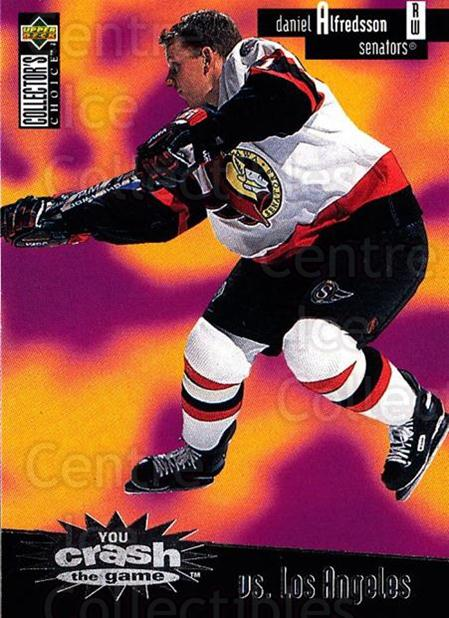 1996-97 Collectors Choice Crash the Game #13C Daniel Alfredsson<br/>2 In Stock - $2.00 each - <a href=https://centericecollectibles.foxycart.com/cart?name=1996-97%20Collectors%20Choice%20Crash%20the%20Game%20%2313C%20Daniel%20Alfredss...&quantity_max=2&price=$2.00&code=47169 class=foxycart> Buy it now! </a>