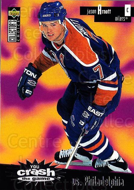 1996-97 Collectors Choice Crash the Game #23C Jason Arnott<br/>1 In Stock - $2.00 each - <a href=https://centericecollectibles.foxycart.com/cart?name=1996-97%20Collectors%20Choice%20Crash%20the%20Game%20%2323C%20Jason%20Arnott...&quantity_max=1&price=$2.00&code=47182 class=foxycart> Buy it now! </a>