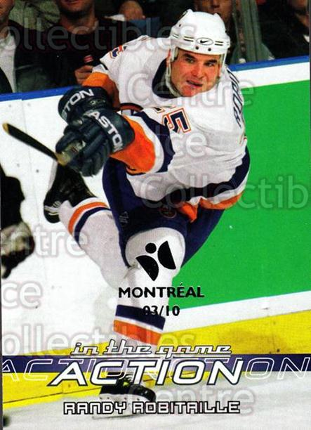2003-04 ITG Action Montreal #398 Randy Robitaille<br/>1 In Stock - $5.00 each - <a href=https://centericecollectibles.foxycart.com/cart?name=2003-04%20ITG%20Action%20Montreal%20%23398%20Randy%20Robitaill...&quantity_max=1&price=$5.00&code=471921 class=foxycart> Buy it now! </a>