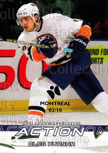 2003-04 ITG Action Montreal #400 Oleg Kvasha<br/>1 In Stock - $5.00 each - <a href=https://centericecollectibles.foxycart.com/cart?name=2003-04%20ITG%20Action%20Montreal%20%23400%20Oleg%20Kvasha...&quantity_max=1&price=$5.00&code=471925 class=foxycart> Buy it now! </a>