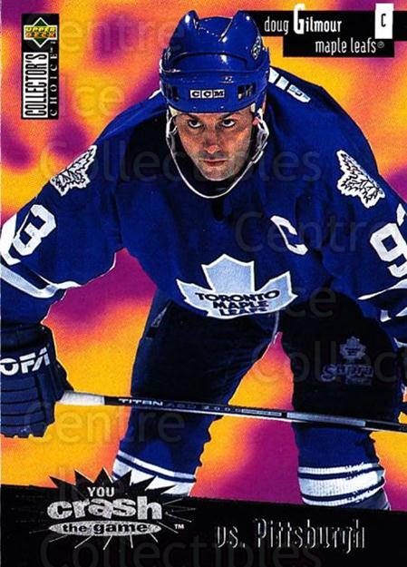 1996-97 Collectors Choice Crash the Game #02B Doug Gilmour<br/>1 In Stock - $2.00 each - <a href=https://centericecollectibles.foxycart.com/cart?name=1996-97%20Collectors%20Choice%20Crash%20the%20Game%20%2302B%20Doug%20Gilmour...&quantity_max=1&price=$2.00&code=47195 class=foxycart> Buy it now! </a>