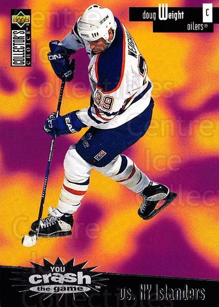 1996-97 Collectors Choice Crash the Game #09A Doug Weight<br/>2 In Stock - $2.00 each - <a href=https://centericecollectibles.foxycart.com/cart?name=1996-97%20Collectors%20Choice%20Crash%20the%20Game%20%2309A%20Doug%20Weight...&quantity_max=2&price=$2.00&code=47206 class=foxycart> Buy it now! </a>