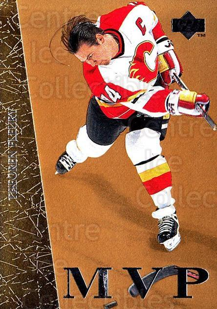 1996-97 Collectors Choice MVP Gold #11 Theo Fleury<br/>5 In Stock - $3.00 each - <a href=https://centericecollectibles.foxycart.com/cart?name=1996-97%20Collectors%20Choice%20MVP%20Gold%20%2311%20Theo%20Fleury...&quantity_max=5&price=$3.00&code=47213 class=foxycart> Buy it now! </a>