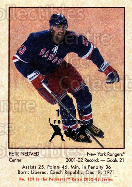 2002-03 Parkhurst Retro Fall Expo #129 Petr Nedved<br/>2 In Stock - $5.00 each - <a href=https://centericecollectibles.foxycart.com/cart?name=2002-03%20Parkhurst%20Retro%20Fall%20Expo%20%23129%20Petr%20Nedved...&quantity_max=2&price=$5.00&code=472435 class=foxycart> Buy it now! </a>