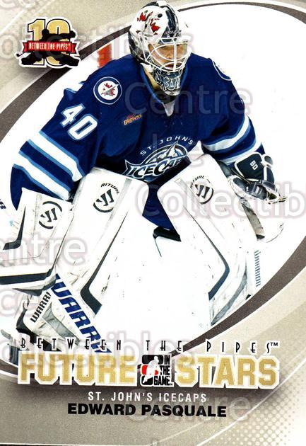 2011-12 Between The Pipes #53 Edward Pasquale<br/>12 In Stock - $1.00 each - <a href=https://centericecollectibles.foxycart.com/cart?name=2011-12%20Between%20The%20Pipes%20%2353%20Edward%20Pasquale...&quantity_max=12&price=$1.00&code=472594 class=foxycart> Buy it now! </a>