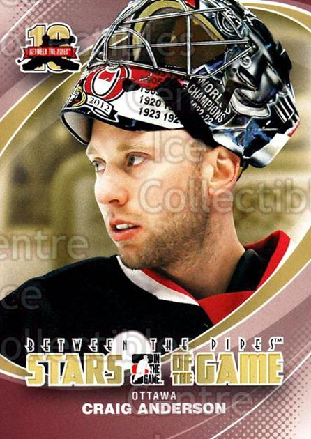 2011-12 Between The Pipes #64 Craig Anderson<br/>19 In Stock - $1.00 each - <a href=https://centericecollectibles.foxycart.com/cart?name=2011-12%20Between%20The%20Pipes%20%2364%20Craig%20Anderson...&quantity_max=19&price=$1.00&code=472605 class=foxycart> Buy it now! </a>