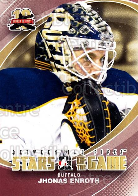 2011-12 Between The Pipes #74 Jhonas Enroth<br/>15 In Stock - $1.00 each - <a href=https://centericecollectibles.foxycart.com/cart?name=2011-12%20Between%20The%20Pipes%20%2374%20Jhonas%20Enroth...&quantity_max=15&price=$1.00&code=472615 class=foxycart> Buy it now! </a>