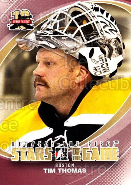 2011-12 Between The Pipes #85 Tim Thomas<br/>17 In Stock - $1.00 each - <a href=https://centericecollectibles.foxycart.com/cart?name=2011-12%20Between%20The%20Pipes%20%2385%20Tim%20Thomas...&quantity_max=17&price=$1.00&code=472626 class=foxycart> Buy it now! </a>