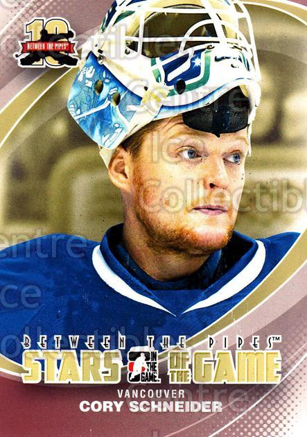 2011-12 Between The Pipes #96 Cory Schneider<br/>18 In Stock - $1.00 each - <a href=https://centericecollectibles.foxycart.com/cart?name=2011-12%20Between%20The%20Pipes%20%2396%20Cory%20Schneider...&quantity_max=18&price=$1.00&code=472637 class=foxycart> Buy it now! </a>