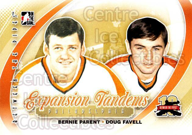 2011-12 Between The Pipes #194 Bernie Parent, Doug Favell<br/>16 In Stock - $1.00 each - <a href=https://centericecollectibles.foxycart.com/cart?name=2011-12%20Between%20The%20Pipes%20%23194%20Bernie%20Parent,%20...&quantity_max=16&price=$1.00&code=472735 class=foxycart> Buy it now! </a>