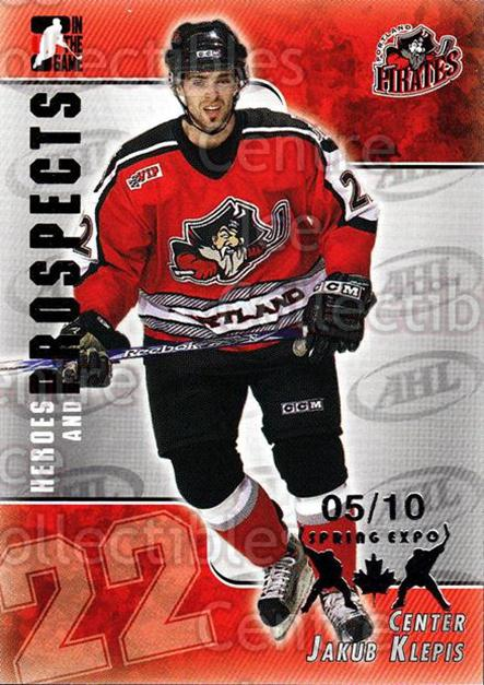 2004-05 ITG Heroes and Prospects Spring Expo #188 Jakub Klepis<br/>1 In Stock - $5.00 each - <a href=https://centericecollectibles.foxycart.com/cart?name=2004-05%20ITG%20Heroes%20and%20Prospects%20Spring%20Expo%20%23188%20Jakub%20Klepis...&quantity_max=1&price=$5.00&code=472779 class=foxycart> Buy it now! </a>