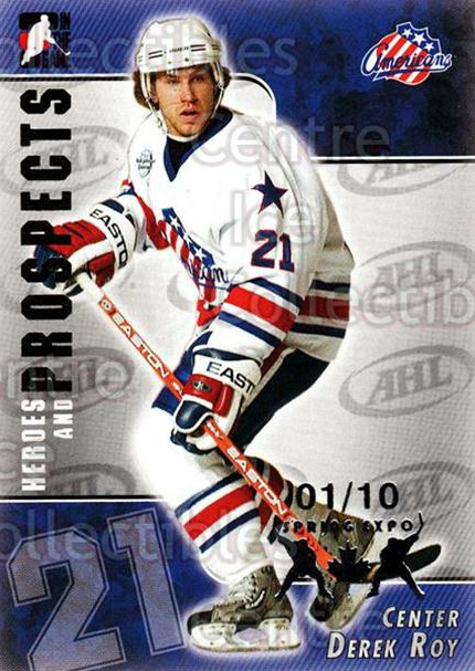 2004-05 ITG Heroes and Prospects Spring Expo #198 Derek Roy<br/>1 In Stock - $5.00 each - <a href=https://centericecollectibles.foxycart.com/cart?name=2004-05%20ITG%20Heroes%20and%20Prospects%20Spring%20Expo%20%23198%20Derek%20Roy...&quantity_max=1&price=$5.00&code=472789 class=foxycart> Buy it now! </a>
