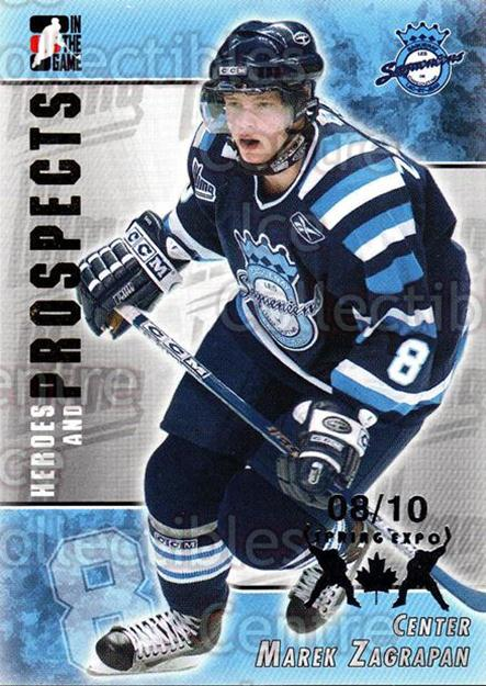 2004-05 ITG Heroes and Prospects Spring Expo #216 Marek Zagrapan<br/>1 In Stock - $5.00 each - <a href=https://centericecollectibles.foxycart.com/cart?name=2004-05%20ITG%20Heroes%20and%20Prospects%20Spring%20Expo%20%23216%20Marek%20Zagrapan...&price=$5.00&code=472807 class=foxycart> Buy it now! </a>