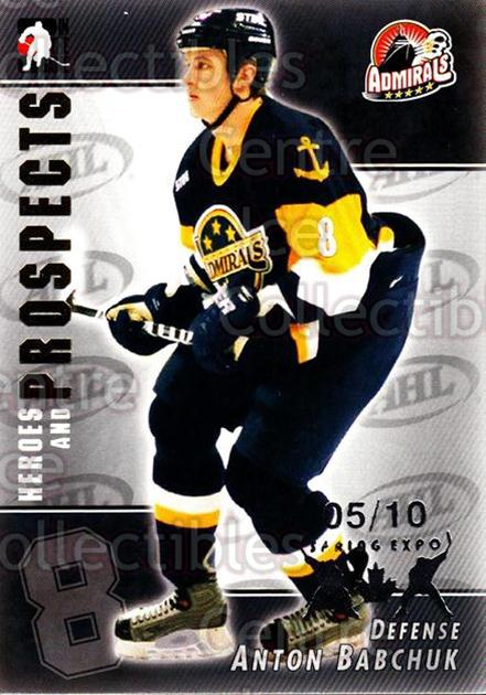 2004-05 ITG Heroes and Prospects Spring Expo #114 Anton Babchuk<br/>1 In Stock - $5.00 each - <a href=https://centericecollectibles.foxycart.com/cart?name=2004-05%20ITG%20Heroes%20and%20Prospects%20Spring%20Expo%20%23114%20Anton%20Babchuk...&price=$5.00&code=472837 class=foxycart> Buy it now! </a>
