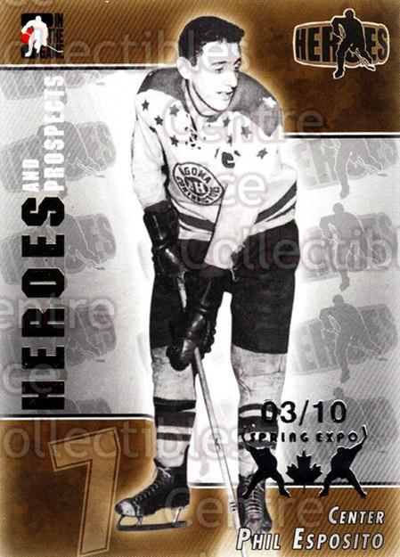 2004-05 ITG Heroes and Prospects Spring Expo #130 Phil Esposito<br/>1 In Stock - $5.00 each - <a href=https://centericecollectibles.foxycart.com/cart?name=2004-05%20ITG%20Heroes%20and%20Prospects%20Spring%20Expo%20%23130%20Phil%20Esposito...&quantity_max=1&price=$5.00&code=472848 class=foxycart> Buy it now! </a>